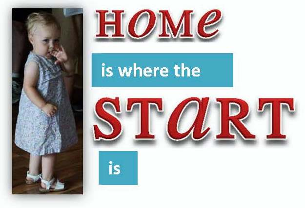 Home is where the start is image